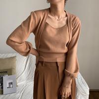《予約販売》minimal décolleté knit/2colors_nt0613