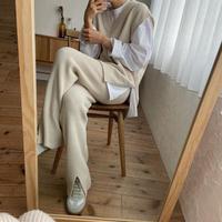 《予約販売》quality knit vest/2colors_nt0823
