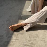 【nokcha original】slit lib pants/ ivory_np0342