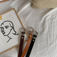《予約販売》quality leather belt /3colors_na0163
