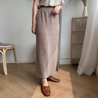 glossy easy skirt/2colors
