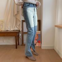 ✳︎予約販売✳︎slit straight jeans_np0121