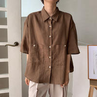 《予約販売》pocket over  shirt/2colors_nt0472