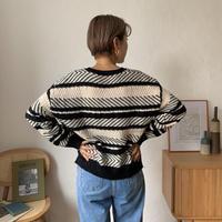 《予約販売》bi-color pattern knit/2colors_nt0629