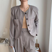 《予約販売》no collar jacket/2colors_no0079