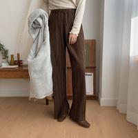 ✳︎予約販売✳︎warm pleats slit pants/2colors_np0116
