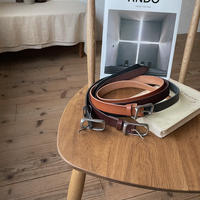 《予約販売》square buckle leather belt/3colors_na0230