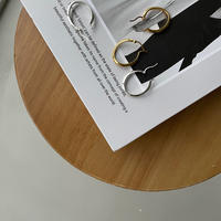 《予約販売》silver925 oval pierce/2colors_na0313