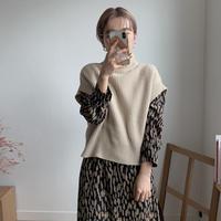 ✳︎予約販売✳︎daily knit vest/2colors_nt0173