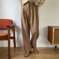 【nokcha original】waist detail wide pants/camel beige_np0313
