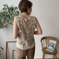 《予約販売》crochet knit vest_nt0437