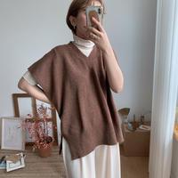✳︎予約販売✳︎french sleeve knit vest/2colors_nt0062