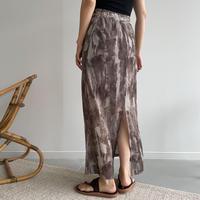 《予約販売》mosaic sheer skirt/2colors_ns0057