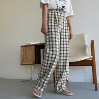 《予約販売》check tuck pants/2colors_np0441