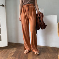 【nokcha original】material lady pants/ brick_np0243
