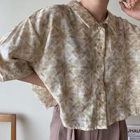 《予約販売》pattern minimal shirt/2 colors_nt0384