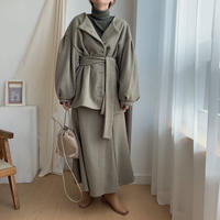 ✳︎予約販売✳︎puff middle coat/khaki_no0030