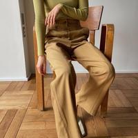 【nokcha original】center stich pants/musterd_np0348