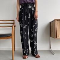【nokcha original】nuance pattern pants/black_np0421
