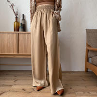 《予約販売》satin easy wide pants/2colors_np0267