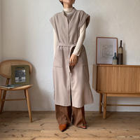 《予約販売》2way no collar long vest_nt0639