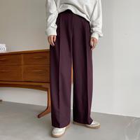 《予約販売》two tuck wide slacks pants/3colors_np0475