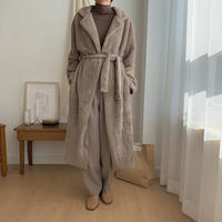 ✳︎予約販売✳︎shaggy gown coat_no0044