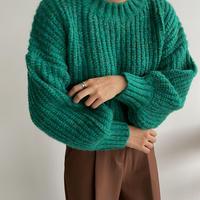 《予約販売》melange coloring knit/2colors_nt1109