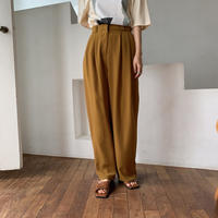 【nokcha original】gather toromi pants/camel_np0235
