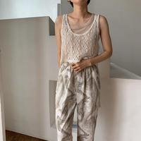《予約販売》2way unbalance knit tank top_nt0516
