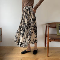 《予約販売》nuance pattern pleats sk/2colors_ns0042