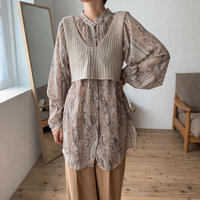 《予約販売》python sheer blouse/2colors_nt0543