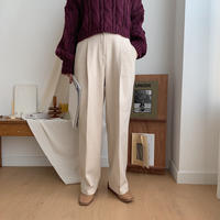 ✳︎予約販売✳︎warm tuck wide pants /2colors_np0111