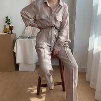 《予約販売》glossy pocket shirt/2colors_nt0331