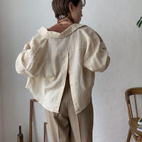 《予約販売》back open croped linen shirt/2color_nt0428