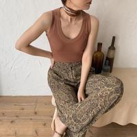 《予約販売》lady u neck knit tank top/4colors_nt0440