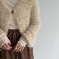 《予約販売》shaggy knit cardigan_nt1091