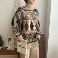 ✳︎予約販売✳︎argyle witer knit_nt0207