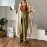 《予約販売》quality linen long  shirt/2colors_nt0461