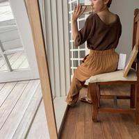 《予約販売》V neck lib knit/4color_nt0525
