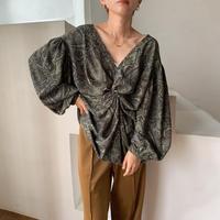 《予約販売》paisly cache-coeur blouse/2colors_nt0621