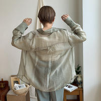 《予約販売》sheer round shirt/2colors_nt0322