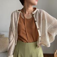 《予約販売》mesh knit cardigan/2colors_nt0469