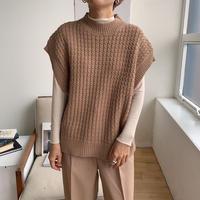 《予約販売》waffle knit vest/2colors_nt0643