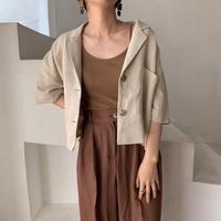 《予約販売》pocket croped jacket/2colors_no0090
