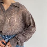 《予約販売》sheer ennui knit/2colors_nt1076