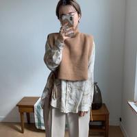 minimal neck vest/2colors_nt0148