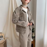 《予約販売》washing beige jacket_no0073