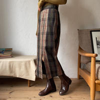 《予約販売》check slit skirt_ns0053