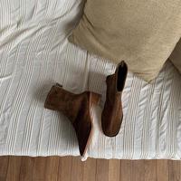 《予約販売》suède wood heel boots_na0206